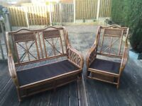 2 seater 1 chair conservatory/garden set. Excellent condition