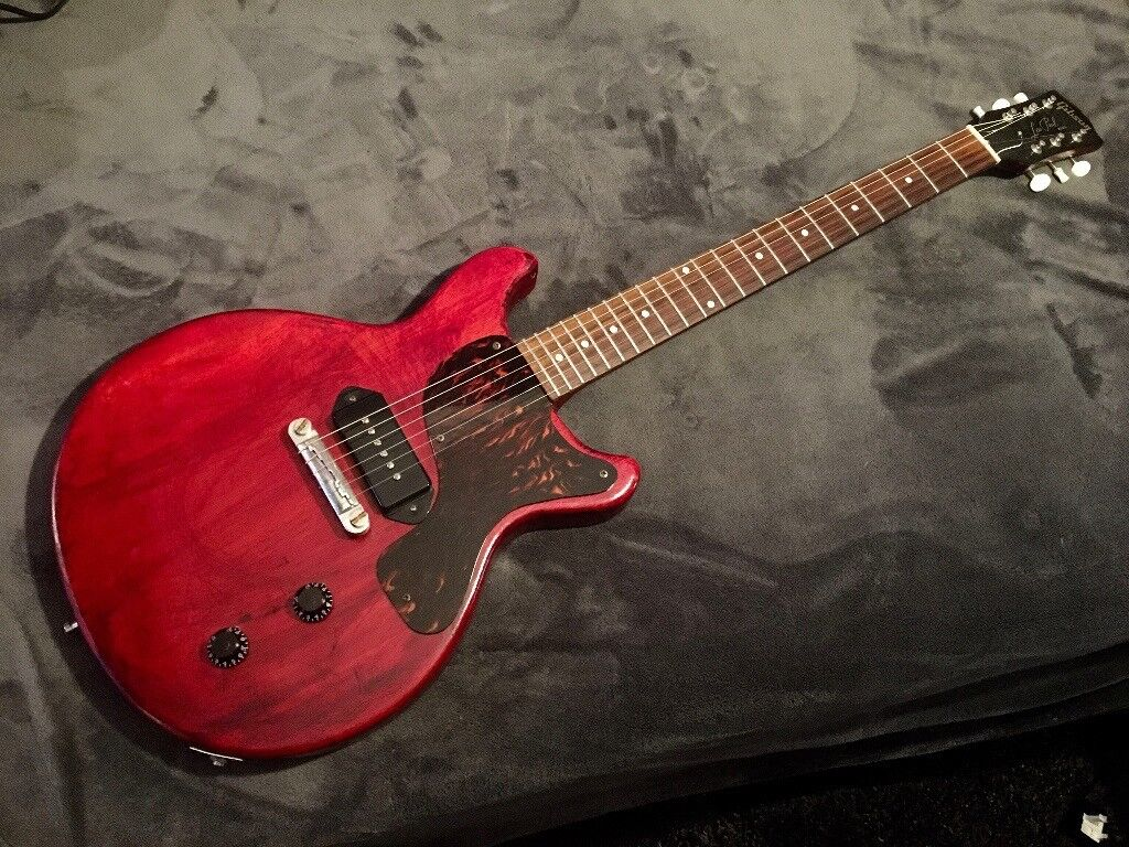 1980 39 s japanese gibson les paul junior copy with bareknuckle p90 in reading berkshire. Black Bedroom Furniture Sets. Home Design Ideas