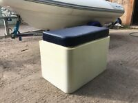 Bench storage console seat + cushion for RIB Rigid inflatable boat GRP for Project