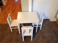Kids IKEA Table and Chairs
