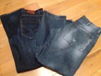 "2 pair of men's jeans 34"" waist"