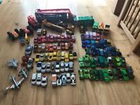 Hot wheels truck, cars and other vehicles