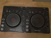 2x pioneer cdjs mk1000 excellent condition