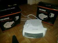 Two Brand new 2kw room heaters