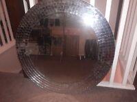 Silver Round Stunning Mosaic Mirror