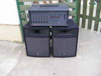 TOA Mixer/Amplifier Peavey Speakers PA system 300W