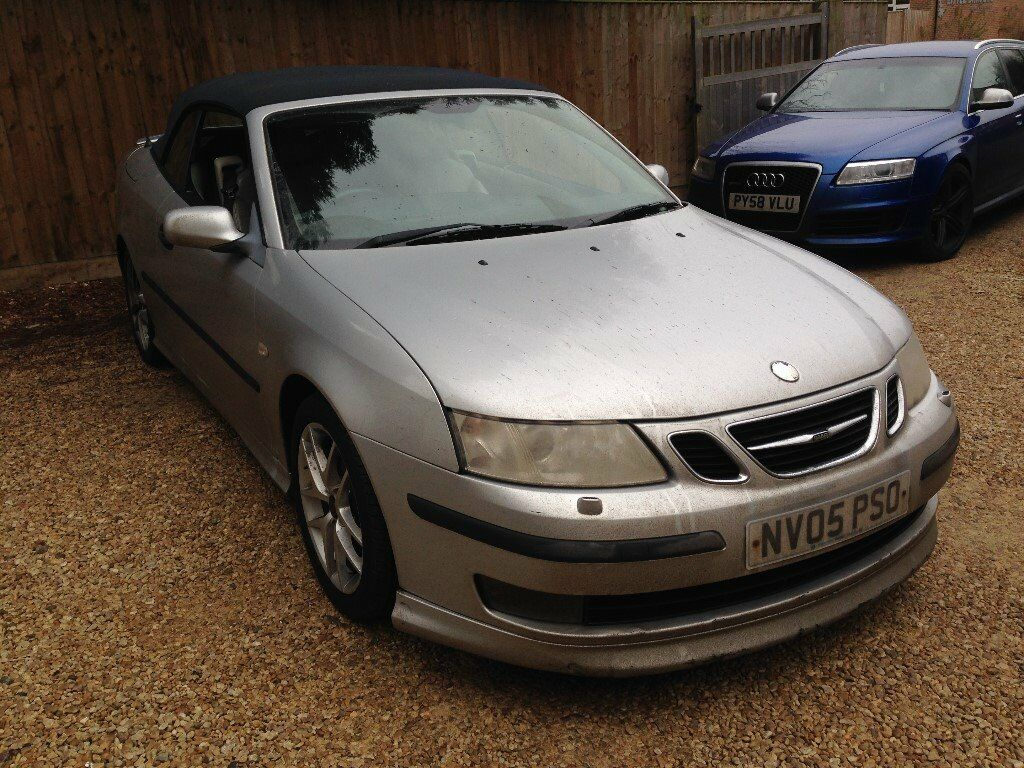 2005 saab 9 3 aero 210 bhp silver convertible turbo in high wycombe buckinghamshire gumtree. Black Bedroom Furniture Sets. Home Design Ideas