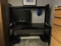 Ikea Fredde Black Desk