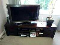 TV unit, bookcase & coffee table