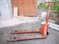 Pallet truck, pump truck, spares or repair