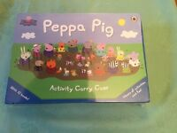 Peppa Pig Activity Carry case with 10 sticker and activity books, new and unopened.