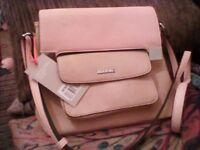 Designer Handbag (Peach/Pink) NEW with Tags.