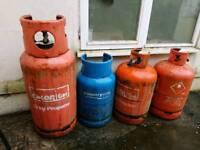 Gas bottles (empty)