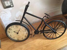 Large Ornamental bike with clock