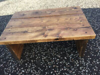 Planked Coffee Table , in good condition and good quality . Size L 35.5in W 23in H 14in. £120