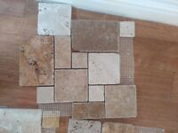 Travatine wall tiles, brand new, over bought. 11 sheets
