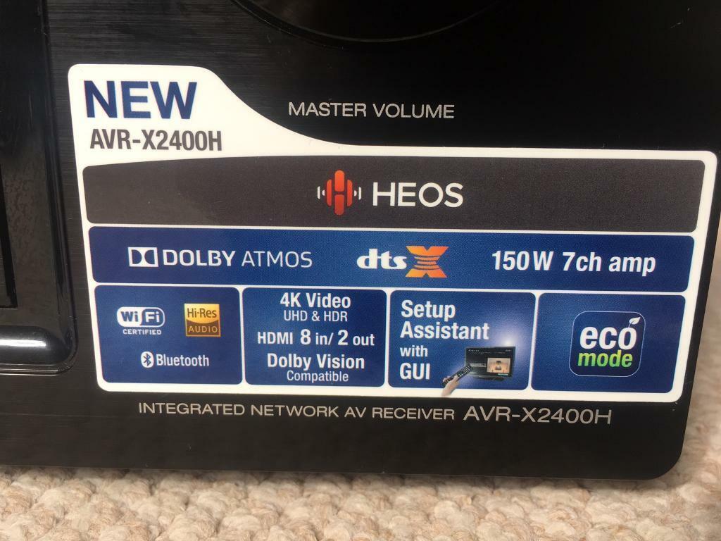 Denon AVR-X2400H 7 2 AV Receiver/Dolby Atmos Home Cinema Surround Amplifier  | in Crawley, West Sussex | Gumtree
