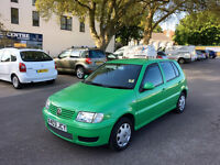 2000 VOLKSWAGEN POLO S SDI 1.9 DIESEL, 1 P.OWNER, F/S/H, NEW CLUTCH,IN NEW COND