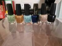 6 OPI Nail Polishes & Ikea Godmorgon makeup holder