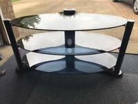 Black Frosted TV Unit