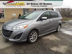 2014 Mazda Mazda5 GT LEATHER AND ROOF! LOW KMS! DEALER OF THE...
