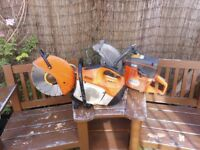 STIHL TS410 STONE SAW WITH NEW BLADE
