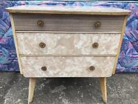 Retro chest Of 3 Drawers FREE DELIVERY PLYMOUTH AREA