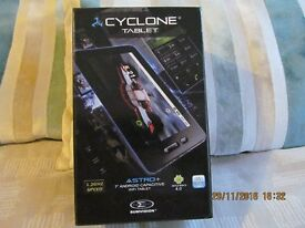 cyclone 7inch 16gb tablet,as new includes case and charger.