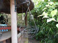 2 Black Metal Hanging Baskets