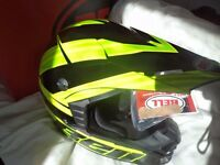 Bell MX SX-1 Adult Helmet Race Crusade Green Motocross BMX XXL 63-64cm NEW