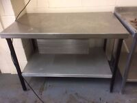Stainless Steel Table With Draw 120 cm Wide ,70 cm Deep,85 cm High ,Other Tables Available
