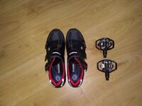 Shimano M088 MTB SPD Shoes and pedals
