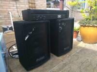 ProSound 200 watt sound system speakers and PA