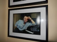 Hand Signed Phil Collins Framed Picture - with COA