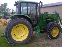 2008 John Deere 7130 4WD Tractor with Cab & Loader