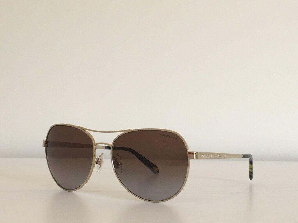 87 Tiffany &Co. TF 3051-B 6091/T5 Aviator Gold Brown Mirror