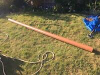 Underground pipe 3.5 metres long 110mm diameter