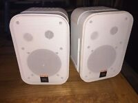 JBL Control Pro One - White - With Wall Brackets