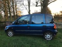 A well used Fiat Multipla but with low mileage for its age & an MOT until September 2018.