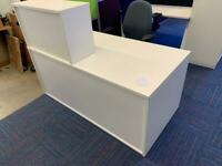White reception unit / desk NEW