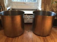 2 large Bourgeat stock pots