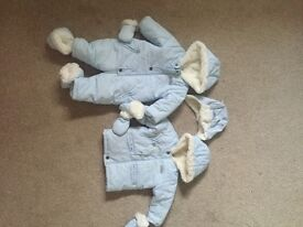 Baby boys snowsuit matching hat and jacket size 6 months