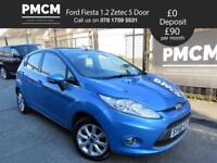 FORD FIESTA 2008 1.2 ZETEC 5 Door - LOW INSURANCE - JUST SERVICED - polo corsa clio (blue) 2008