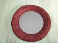 A VINTAGE 1980'S RATTAN CANE BASKET MIRROR, EARLY IKEA PERIOD. .