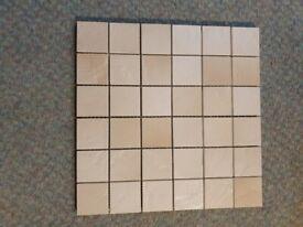 Mosaic Tiles - Natural Beige Stone effect - 1 box