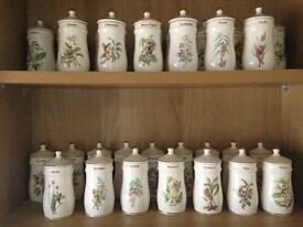 Flower fairy spice jars full set