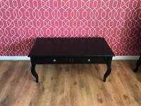 Elysee black coffee table with draws