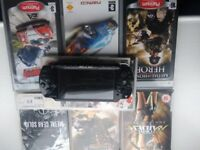 Sony PSP with seven games