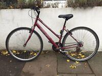 "HYBRID STEP-THROUGH FRAME LADIES COMMUTER 18"" BICYCLE CX10 APOLLO"