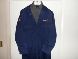 Exeter College Technology Center ENGINEERING Coverall and matching Polo Shirt, Size S.